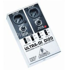 BEHRINGER 2 CHANNEL DI BOX Silver/Black Ultra-DI DI20