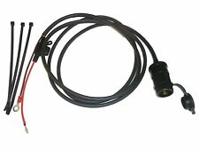 "12V Motorcycle Accessory Power Socket 2m (79"") Cable - Blade Fused - Easy Fit"
