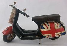 Piatto in stagno modello di una Union Jack Scooter/ornamento/Regalo