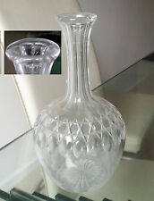 VICTORIAN CUT GLASS GLOBE & FLUTE CARAFE- LENS DECORATION-STAR CUT BASE