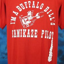 vintage 80s BUFFALO BILL KAMIKAZE PILOT PAPER THIN T-Shirt M/L cartoon japan war