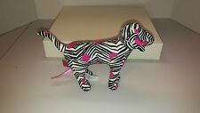 "PINK DOG 8"" PLUSH DOLL, Zebra Print with Pink Dots Victoria's Secret"