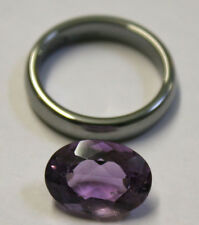 NATURAL LOOSE AMETHYST GEMSTONE 14X10MM GEM 5.7CT FACETED OVAL AM69