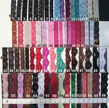 HUGE Variety of Stretch Floral Lace Edge Trims, Choose Color and Yards