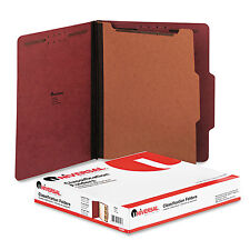 Universal Pressboard Classification Folder Letter Four-Section Red 10/Box 10250
