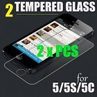 2 x Pieces Tempered Glass 0.26mm HD Screen Protector Film Guard - iPhone 5/5S/5C