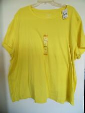 Women's North Crest Yellow Crew Neck Shirt Top Size 3X