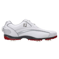 Footjoy Mens Hydrolite Golf Shoes BOA #50077 / White - Red / UK 8.5 Medium 2015