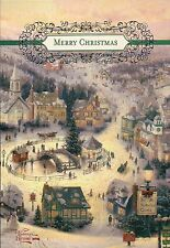 St. Nicholas Circle - Thomas Kinkade Christmas Card with Message -- Not Postcard