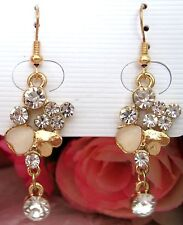 Girls/Ladies Crystal Hearts Rhinestone Earrings new