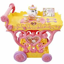 Princess Belle Musical Tea Party Cart Disney Be Our Guest Belle Mrs. Potts NIB