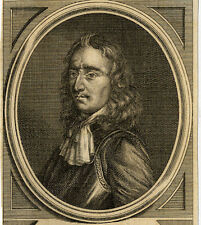 Portrait de Algernon Sydney Leicester Gravure originale 18e siècle