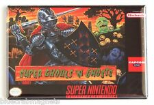 Super Ghouls 'N Ghosts FRIDGE MAGNET (2.5 x 3.5 inches) video game box snes