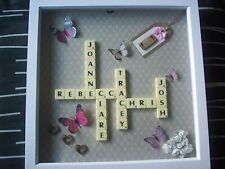 """12x12"""" Personalised Scrabble Word Art Picture Frame - Choose Own Names"""