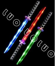 2 Ninja Pirate Light Up Sword LED Motion Activated Sound Flashing star wars life