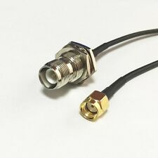 """wifi router adapter RP SMA male to RP TNC female pigtail cable RG174 20cm 8"""""""