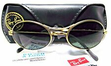 "RAY-BAN *NOS VINTAGE B&L ORBS ""ELLIPSE"" W2177 Matte Gold Oval *NEW SUNGLASSES"