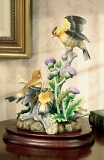 Andrea by Sadek Hand Painted Ceramic Goldfinch Family Bird Figurine Statue