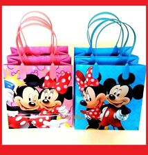 Mickey and Minnie Mouse Birthday Party Favor Goodie Gift candy Loot Bags 12pcs