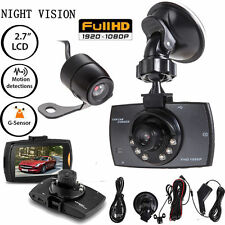 1080P HD Dual Lens Car Camera Vehicle DVR Dash Cam Video Recorder Night Vision