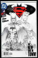 SUPERMAN / BATMAN #8 VARIANT SKETCH CVR SIGNED MICHAEL TURNER DF + COA NM+ Aspen