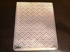 Sizzix Large Embossing Folder CHEVRONS ZIGZAGS fits Cuttlebug & Wizard