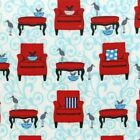 Robert Kaufman Laurie Wisbrun Perfectly Perched Chair Fabric AWN-12848-203 Celeb