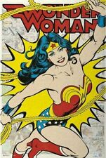 Wonder Woman Retro Style Comic Room Wall Hanging Poster 24x36