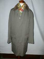 MENS OLIVE GREEN  TRENCH/RAIN COAT  WITH WARM WOOL BLEND  LINING  -  UK 40