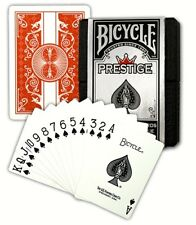 6 Boxed Red Color Decks Bicycle Prestige Poker Playing Cards 100% Plastic New