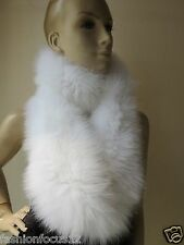 Sophisticated /100% fox fur knitted long neckerchief /scarf latest style white