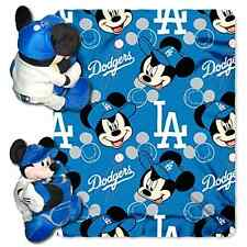 Los Angeles Dodgers Mickey Mouse Pillow Fleece Blanket Set Nursery Quilt Toy NEW