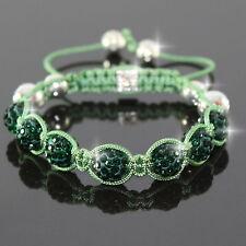 Shamballa Armband Armreif Armschmuck Armbänder Bracelet Grün