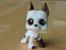 Hasbro Littlest Pet Shop Figure LPS #577 White Brown Great Dane Dog Toys RARE
