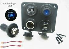 3.1 Amp USB Charger + Voltmeter +12V Lighter Socket + Pug + Switch Panel Outlet