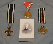 WWI WW1 Original German Medal Set Lot: Iron Cross, Hindenburg, Kaiser Jubilee