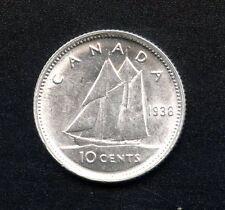 1938 Canada 10 Cent Coin ( 2.33 Grams .800 Silver Each)
