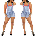 Fashion Womens Distressed Washed Jeans Denim Jumpsuit Romper Overall Pants Short