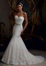 New white/ivory Lace Mermaid wedding dress custom size 2-4-6-8-10-12-14-16-18-20