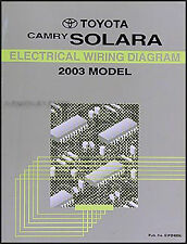 BRAND NEW 2003 Toyota Camry Solara Wiring Diagram Manual OEM Electrical Shop