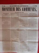 JOURNAL LE MONITEUR DES COMMUNES MINISTERE DE L'INTERIEUR 52 - 29 DECEMBRE 1959