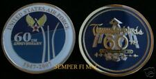 2007 THUNDERBIRDS F-16 FALCON US AIR FORCE 60TH CHALLENGE COIN PIN UP AFB WOW