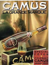Publicité Advertising 1988 Le Cognac Camus Grand VSOP