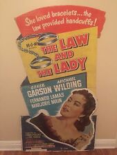 Original ** 1951 THE LAW AND THE LADY Movie Standee GREER GARSON WILDING LAMAS