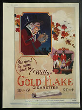 Wills Gold Flake Cigarettes Fox Hunting Huntsmen 1927 Page Ad Advertisement