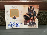 National Treasures Autograph Jersey HOF Auto Rams Marshall Faulk 43/50  2013