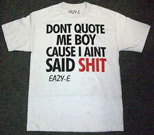 NWT N.W.A. EAZY-E Don't Quote Me Boy GRAY SHORT SLEEVE TEE T-SHIRT - SMALL