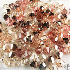 Swarovski 5328 Xilion Bicone Mixes 4mm Rose Gold 100 beads