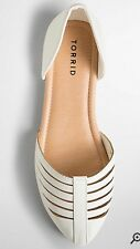 Torrid Size 11 Wide Width White Strappy D'Orsay Flats NEW