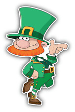 "Leprechaun Funny Cartoon Car Bumper Sticker Decal 4"" x 5"""